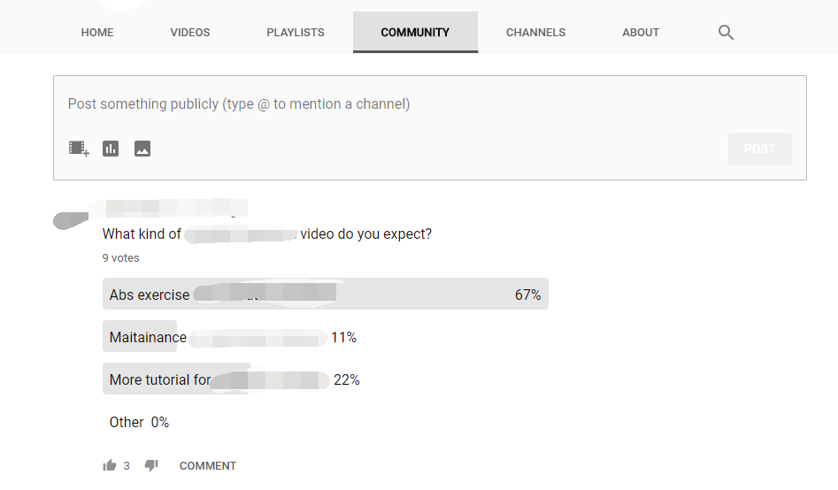 youtube poll
