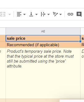 merchant centre feed sale price