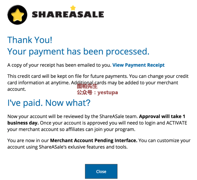 ShareASale-Payment-done