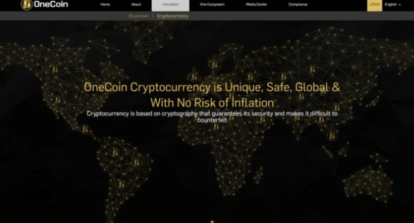 onecoin homepage
