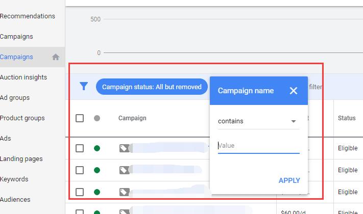 谷歌广告系列命名的参考做法