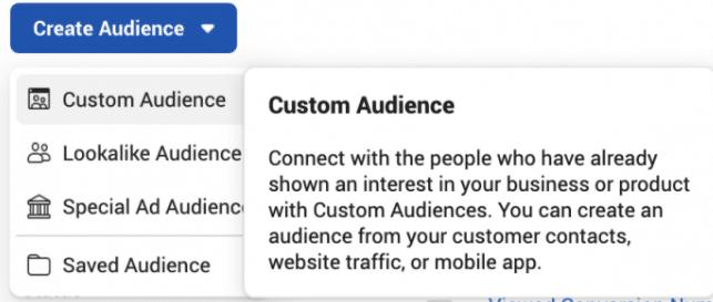 如何创建Facebook视频参与自定义受众?